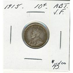 1915 10 Cents, Abt VF.