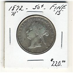 1872H 50 Cents F15. .