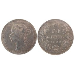 1899 50 Cents ICCS VF-30.