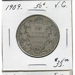 1909 50 Cents, VG.