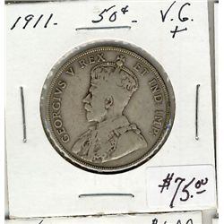 1911 50 Cents, VG+.