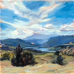 Shelby Keefe, New Mexico Impression, Oil on Canvas
