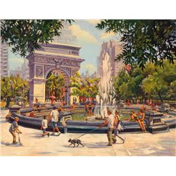 Michele Byrne, Washington Sq, Signed Canvas Print