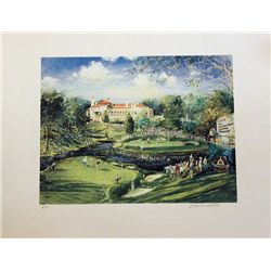 Kamil Kubik, 1997 The Congressional Golf,  Signed Litho
