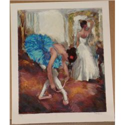 Hedva Ferenci, Blue Dancer, Signed Serigraph
