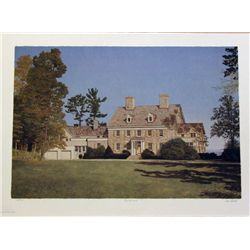 Mel Hunter, Big Oak Farm, Signed Mezzograph