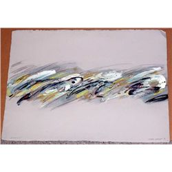 Joyce Rezendes, Silver Waves, Signed Painting