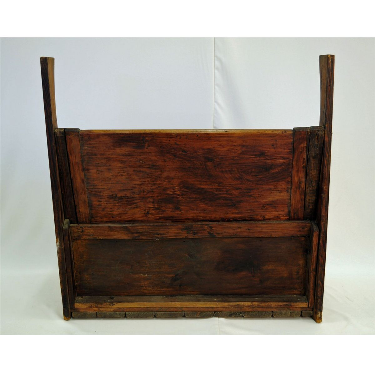 Early country pine bench with lift seat.