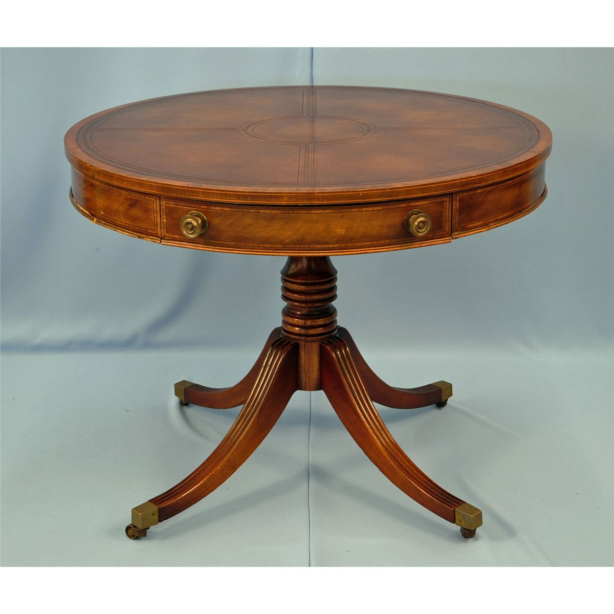 - Pendleton Irwin Round Leather Drum Table