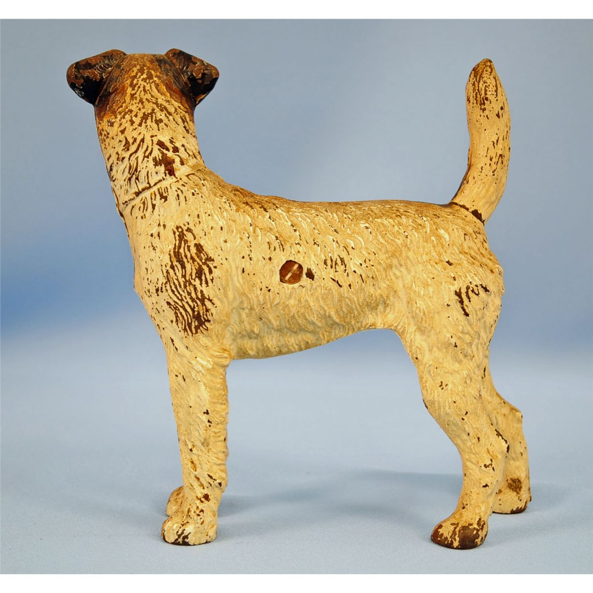 Wirehaired Fox Terrier Dog Cast Iron Doorstop