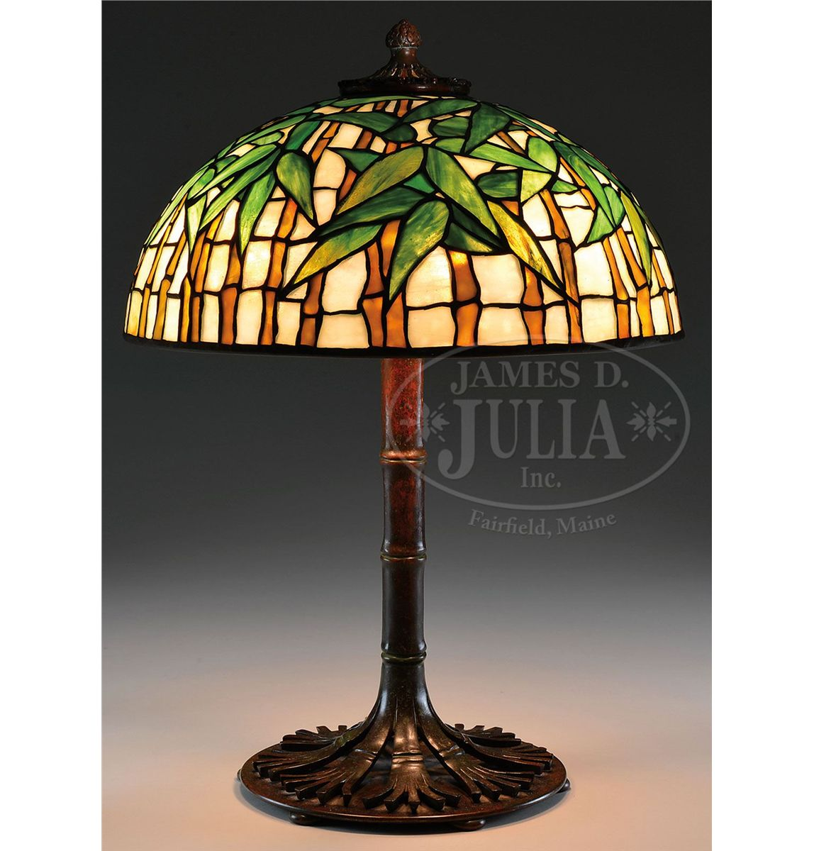lamp bamboo shade sold picked retro glass table birdcage with globe and