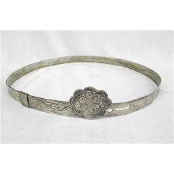 Silverplate Western Hatband Adjustable.