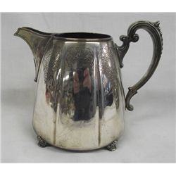 Silverplate Water Pitcher, Meriden SP, ''Francis l''