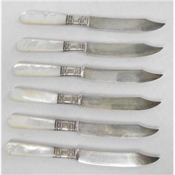 Mother of Pearl Handled Fruit Knives