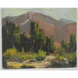 Original Oil ''Mount Bishop'' by Ernie Dollman