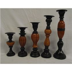 Decorative Candlestick Grouping of 5 Pieces.