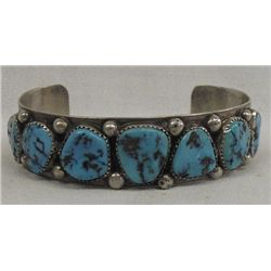 Old Pawn Navajo Sterling Turquoise Bracelet
