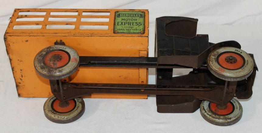 antique wood toy trucks chein hercules motor express tin truck