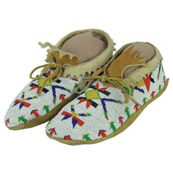 Blackfoot Beaded Moccasins