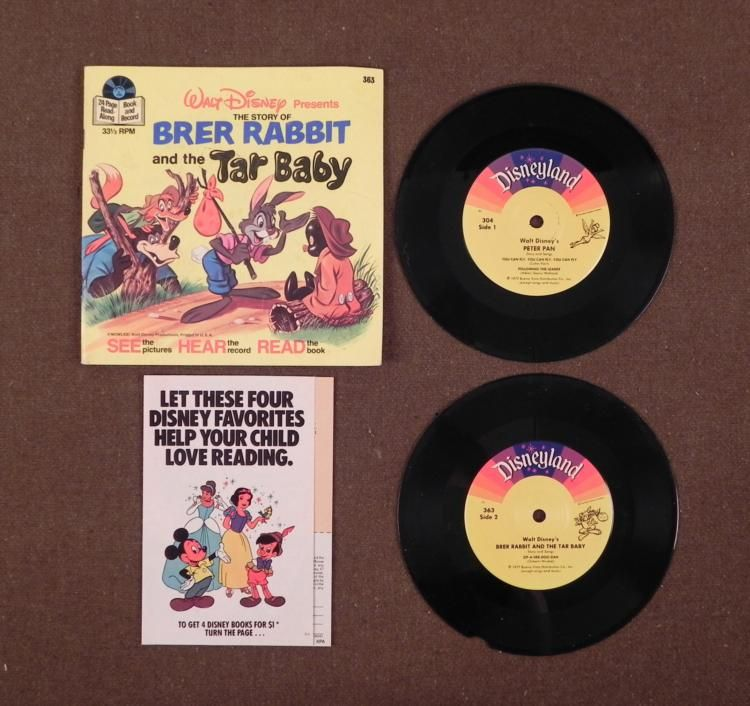 Brer Rabbit And The Tar Baby Book Vintage Disney Brer Rabbit Amp Tar Baby Book w 2 Records