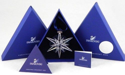 Image 1 : Swarovski 2005 Annual Limited Edition christmas Ornament MINT IN  BOX! - Swarovski 2005 Annual Limited Edition Christmas Ornament MINT IN BOX!!