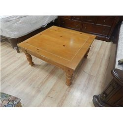 Rustic Pine Coffee Table Square