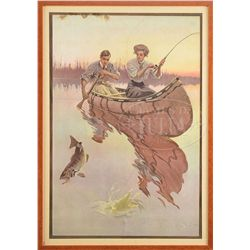 BRISTOL FISHING RODS 1909 POSTER.