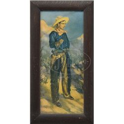 LOT OF TWO FRAMED COWBOY AND COWGIRL PRINTS.