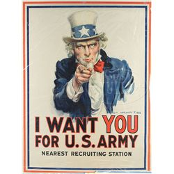 WWI UNCLE SAM 1917 POSTER BY JAMES MONTGOMERY FLAGG.