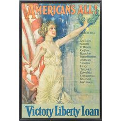 WWI VICTORY LIBERTY LOAN POSTER BY HOWARD CHANDLER CHRISTY.
