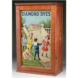 "DIAMOND DYES ""MANSION"" STORE DISPLAY CABINET."