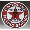 "TEXACO GASOLINE FILLING STATION 42"" PORCELAIN SIGN."