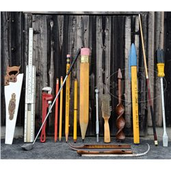 LOT OF 17 OVERSIZED OBJECTS.