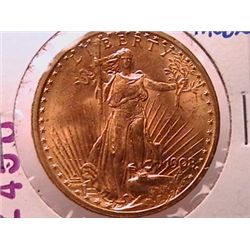 1908 $20 Gold St. Gaudens MS62