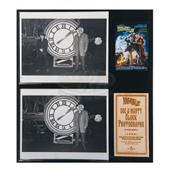 Back To The Future 3 - Doc & Marty Clock Photographs