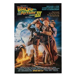 Back To The Future 3 - Original Advance One-Sheet Poster