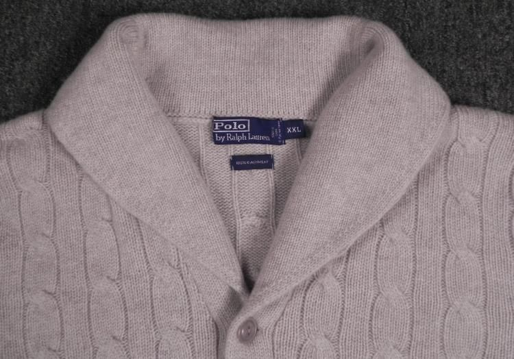 Polo Mens Cashmere Cardigan Button Up Sweater XXL