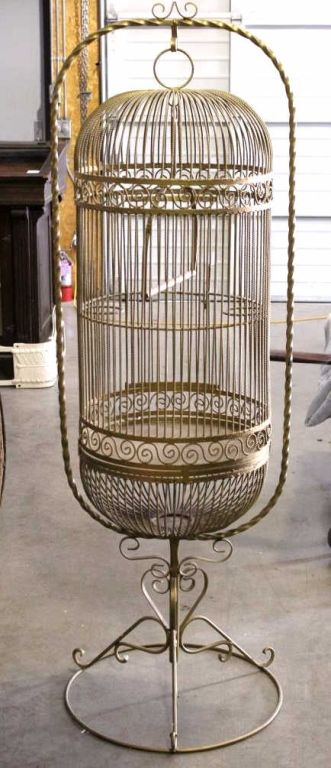 antique large cast iron bird cage. Black Bedroom Furniture Sets. Home Design Ideas