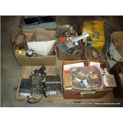PALLET: SCREWS, CB RADIOS, MIXED TOOLS