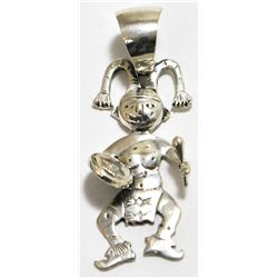 Old Pawn Sterling Silver Clown Dancer Pendant - JT