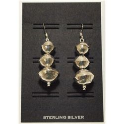 Navajo Sterling Silver French Hook Earrings - Esther Largo