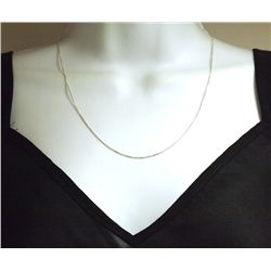 """Sterling Silver 20"""" Box Necklace Chain_- Italy"""