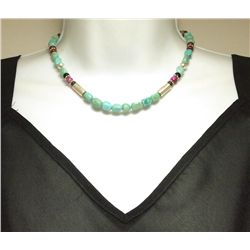 """Navajo Turquoise & Multi-Stone 16"""" Necklace - Tommy Singer"""
