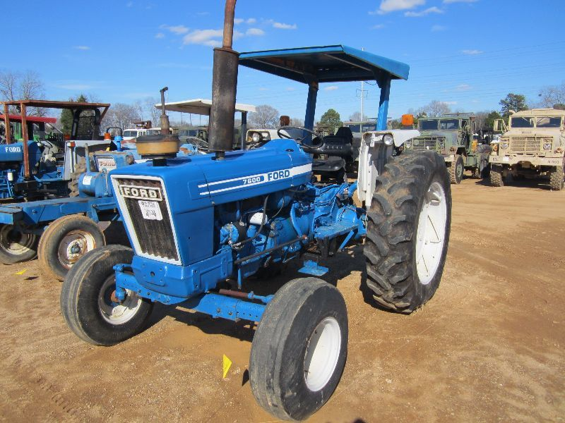 Image 1  FORD 7600 FARM TRACTOR S/N C640079 3 PTH ... & FORD 7600 FARM TRACTOR S/N C640079 3 PTH PTO REMOTE CANOPY ...