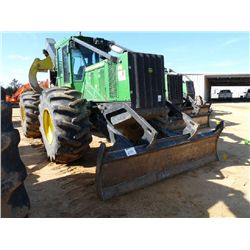 JOHN DEERE 748H GRAPPLE SKIDDER, S/N 642262 (12 YR)DUAL ARCH, WINCH, ECAB W/AIR, 30.5-32 TIRES, METE