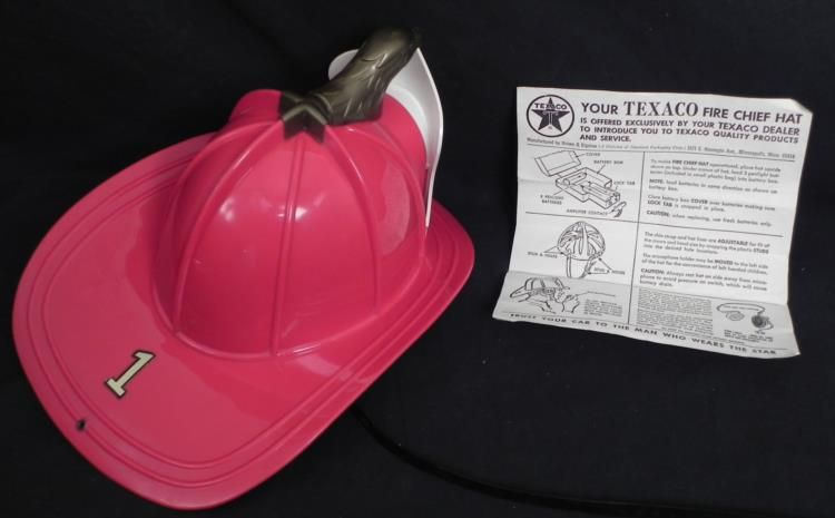 cd5ff6a7893 ... Image 2   Texaco Fire Chief Helmet Vintage Hat w Directions 1960s ...