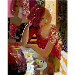 Sabzi, Cocktails in the City, Signed Giclee on Canvas
