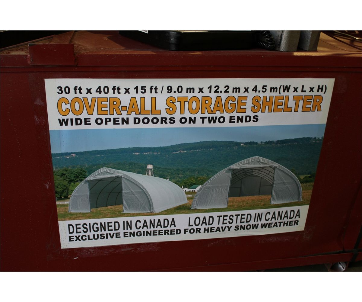 Shelter Storage Cover All : Cover all door dome storage shelter