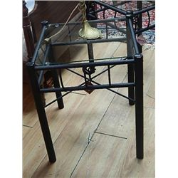 wrought iron and glass end table new. Black Bedroom Furniture Sets. Home Design Ideas