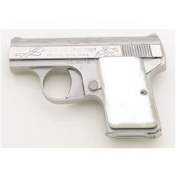 "Bauer Firearms U.S. Bicentennial engraved pocket semi-auto engraved pistol, .25 cal., 2"" barrel, sta"